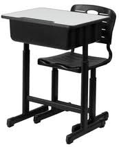 adjustable height student desk and chair with black pedestal frame students home desk laptop printer office and 50 similar items