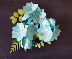 small diy paper flower templates tutorial forget me not