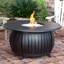 fire sense round fire pit table with cover walmart com