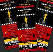 Oscar Dinner Ideas Printable Academy Awards Oscars Hollywood Party Event