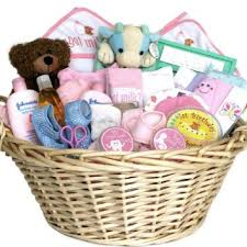 newborn gift baskets buy deluxe baby gift basket pink for shower or christmas
