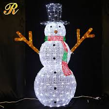 Lighted Snowman Outdoor Christmas Decorations by Led Snowman For Indoor Christmas Decoration Led Snowman For