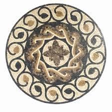marble mosaic medallion floor wall tile decorate