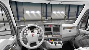 2014 kw t680 white kenworth t680 interior for american truck simulator