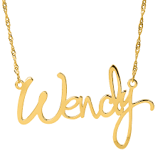 Name Plated Necklace Brooke Style