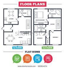 house floor planner floor plan top view interior design stock vector 704566534