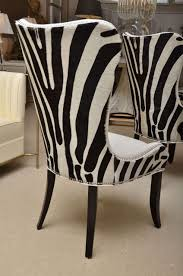 zebra living room set set of eight zebra stenciled cowhide dining chairs from a unique
