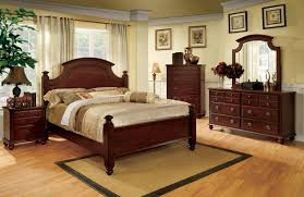 Leons Bedroom Sets Cm7083 Gabrielle Ii Bedroom In Cherry W Optional Casegoods