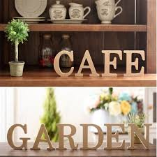 creative home decorations pine wood english words number putting home decorations wooden