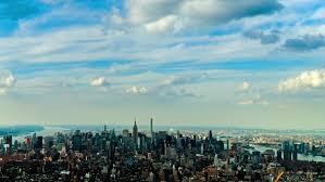 of manhattan york city usa jul 20 2015 aerial view of manhattan york