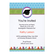 kindergarten graduation invitations announcements zazzle
