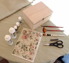 Decoupage Box Ideas - diy project shabby chic decoupage storage box decor advisor
