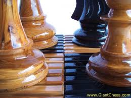 large wooden pieces knock system large wooden chess board from giantchess