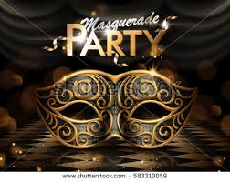 mask party masquerade party poster attractive eye mask stock vector 583310059