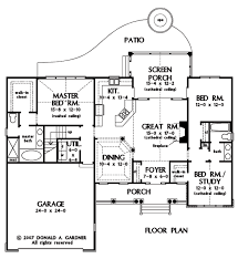 Small Cottage Plan Home Plan The Carrollton By Donald A Gardner Architects