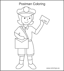 mailman hat coloring page mailman coloring pages google search co op class younger kids