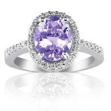 amethyst diamond rings images Oval cut amethyst diamond engagement ring unusual engagement jpg