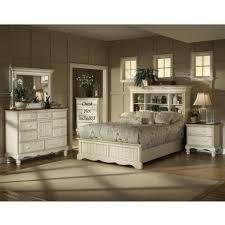 bookcase bedroom set wilshire bedroom set antique white 4 piece bookcase bedroom set