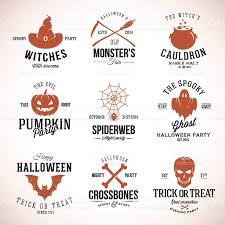 free halloween vector art vintage typography halloween vector badges or logos pumpkin ghost