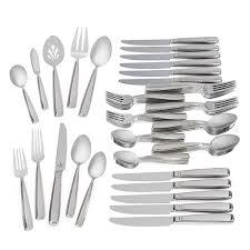 glenridge stainless steel 65 piece flatware set waterford us