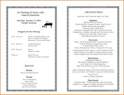 reception program template sle event program template printable calendar planner