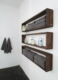 Wooden Shelves For Bathroom Diy Bathroom Shelves To Increase Your Storage Space