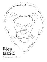 lion face mask template