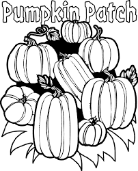 pumpkin patch coloring children preschool