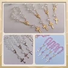24 mini rosaries approximately 4 long baptism favors