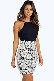 ariel boutique lace crochet bodycon dress boohoo