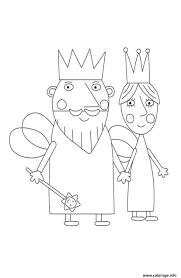 Coloriage Le Roi et la Reine Le Petit Royaume de Ben et Holly
