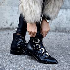 womens boots in style 2017 fashion 2017 stud embellished leather boots buckle rock