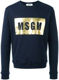 msgm logo print sweatshirt 89 men clothing available to buy online