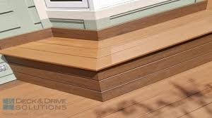 timbertech deck with custom bench des moines deck builder deck