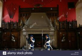 fireplace of the great hall edinburgh castle and palace scotland