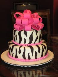 another zebra cake using buttercream with fondant accents lovee
