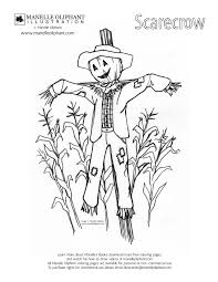manelle oliphant illustration free coloring page friday scarecrow
