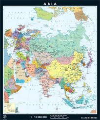 Asia Maps Asia Classroom Map With Spring Roll Up Mechanism