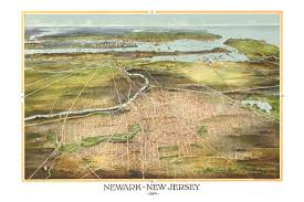 Map Of Newark Nj Amazing Old Map Of Newark New Jersey From 1916 Knowol