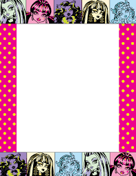 monster writing paper marcos monster high para imprimir imagenes y dibujos para imprimir monster high picture frame by shaibrooklyn on deviantart