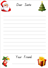free printable writing paper to santa lined christmas paper for letters do your kids write letters to