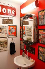 theme bathroom ideas rod bathroom that mirror is amazing rockabilly fever