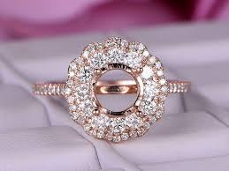 rose style rings images 6 5mm round cut semi mount engagement ring 14k rose gold halo jpg