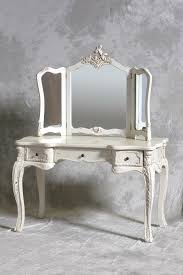 classic mirror vanity dresser with three drawers and mirror based
