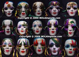 ceramic mardi gras masks fashion and horror masks world