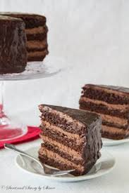 triple chocolate mousse cake is the perfect light dessert recipe