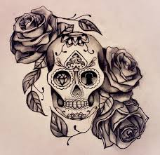 sugar skull roses tattoo design pictures to pin on pinterest