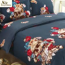 halloween linens aliexpress com buy halloween gift skulls bed linens 4pcs bedding