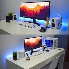 minimalist desk setup minimal setup gaming desk pinterest minimal gaming desk and