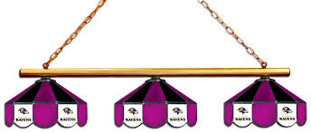 3 shade pool table light baltimore ravens 3 shade glass billiard light nfl serenityhealth